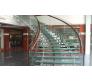 Cầu thang vách kính tay vịn gỗ CTK - G005