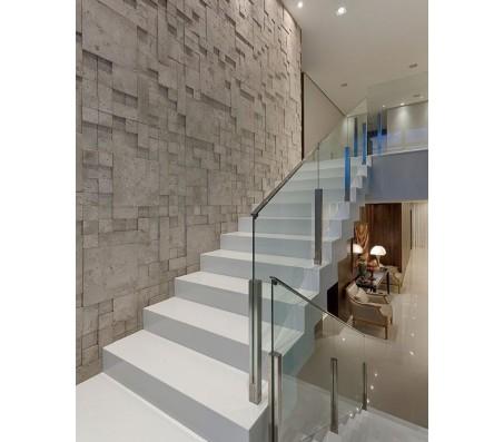 Cầu thang vách kính CTK- 002