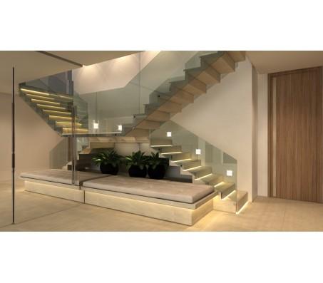 Cầu thang vách kính CTK - 001